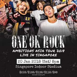 One Ok Rock Singapore Live Tickets 2018