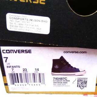 Converse Shoe - Size 7 infants Vintage Indi (Original)