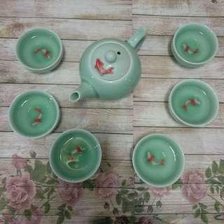 1 set teko teh ikan koi