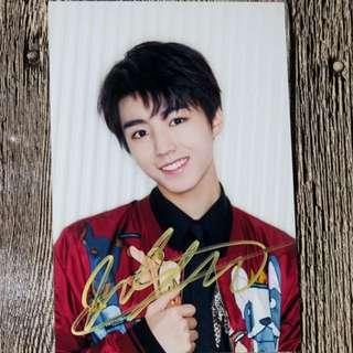 TFBOYS 王俊凯 亲笔签名照 4R 宣传照 Jan 2018