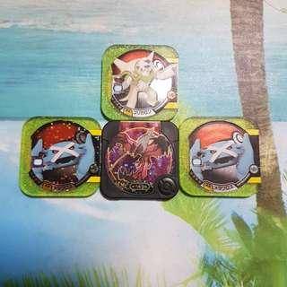 S> Pokemon Tretta Chips 1☆ - 4☆ & Legend Yvelta