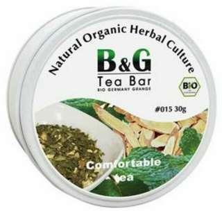 【德國農莊 B&G Tea Bar】有機舒福茶 圓鐵罐(30g)