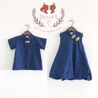 CNY cheongsam inspired batik apparel for kids