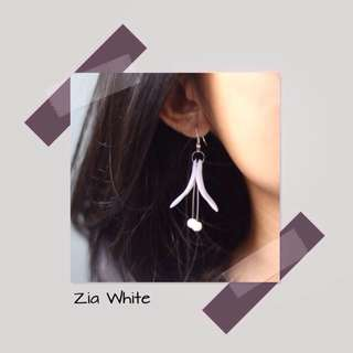 Zia White Earrings