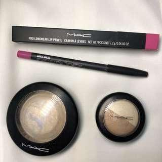TAKE ALL! Mac highlighter, lip liner, eyeshadow