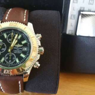 BREITLING SUPEROCEAN II CHRONOGRAPH 44mm 18K GOLD BEZEL