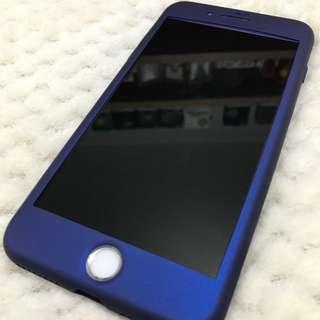 *九折* iPhone 7/8+ 太空藍全包電話殼連芒貼 Phone Case Protection Screen