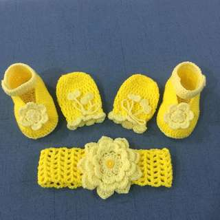 Hand crochet baby Set