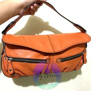 DANIER Leather Hand Bag ( Orange )