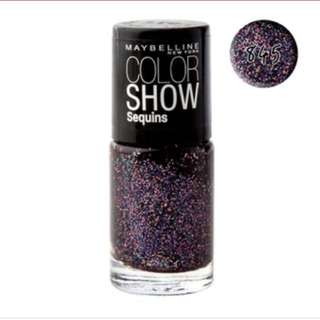 Maybelline Purple Glitter Nail Polish