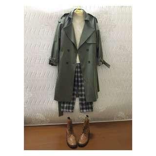 韓貨 高品質經典款 百搭 雙排扣 翻領 繫帶 風衣 外套 大衣