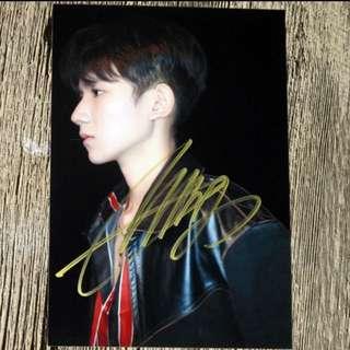 TFBOYS 王源 亲笔签名照 4size 宣传照 Jan 2018