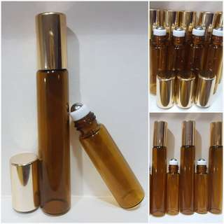Amber Glass Roll On Botlle