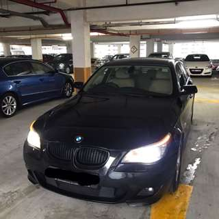 BMW 520i XL 2.0A Black for rent! (Uber/GC/Personal)