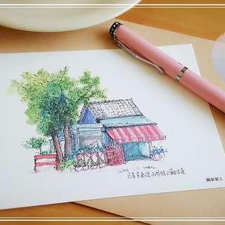 Owen明信片-台東光明路寶桑路口雜貨店