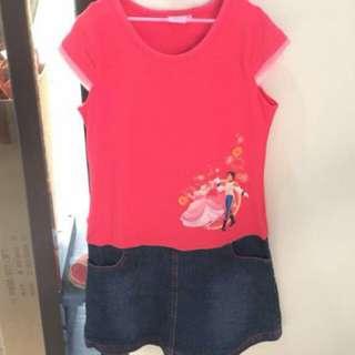 DISNEY Kids Ariel Dress - Bright Red