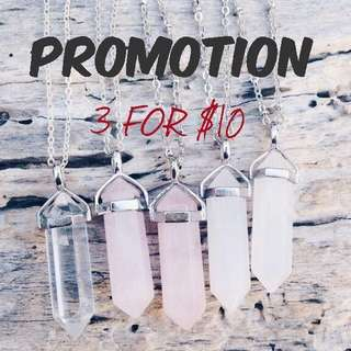 🚚 (3 FOR $10!) Quartz Necklace