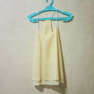 Bottomline Yellow Flowy Top