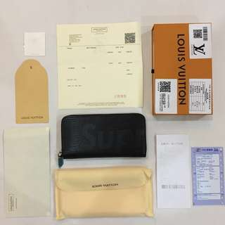 LV X Supreme Long Wallet