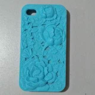 Blue rose iphone 4 case