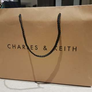 Charles and Keith Paper Bag