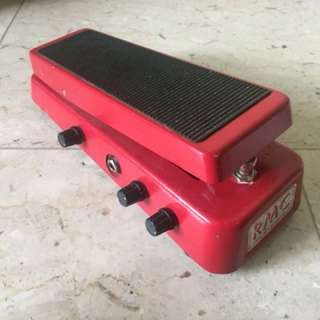 RMC Real Mccoy Custom 6 Wheels of Fire Wah Wah Geoffrey Teese Electric Guitar Effects Pedal USA
