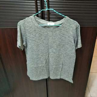 🌸二手🌸麻花灰T恤