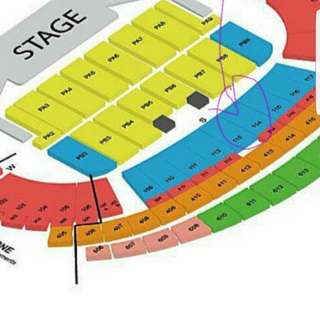 Mayday cat2 very nice seating concert ticket