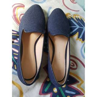 Charles and Keith Denim Shoes