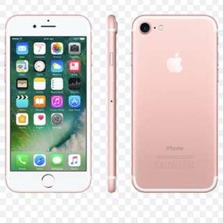 Rose gold iPhone 7 128gb unlocked