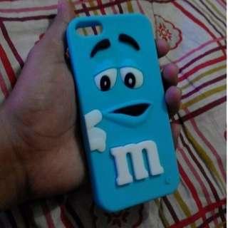 Blue M&M Rubber Case