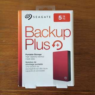 Seagate 5TB Backup Plus Hard disk drive
