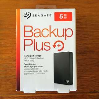 5TB Seagate Backup Plus Hard Disk Drive
