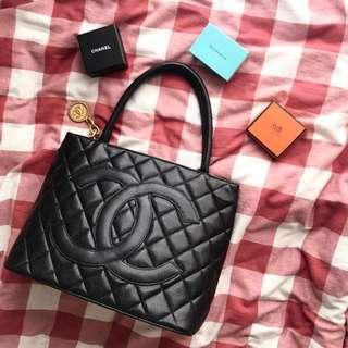 Chanel Tote Bag 黑金荔枝牛皮