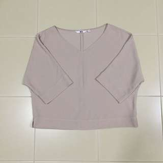 Uniqlo Latte-Coloured Top
