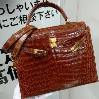 Hermes kelly 25 crocodile