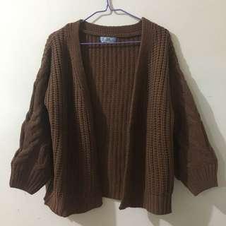 清衣櫃時間🍁全新!啡色針織外套