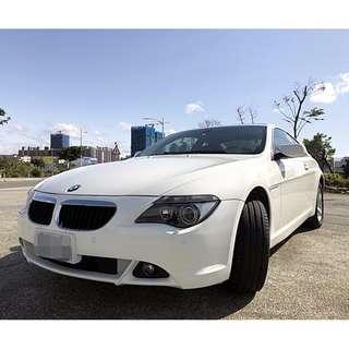 2005年~寶馬~630CI霸氣車~白色~臉書搜尋~ {阿寶優質二手車庫} 可零頭款,全額貸款,超高過件率,超低月付款!