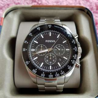 Fossil watch steel black