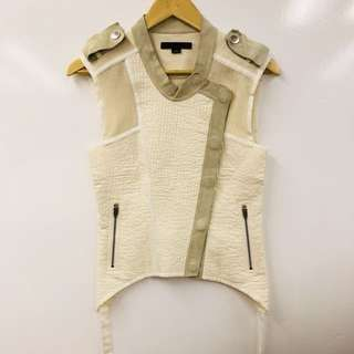 Alexander Wang cotton with goat skin vest cardigan size 2