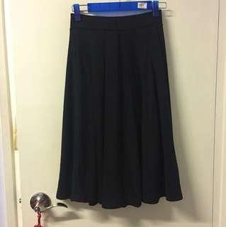 Lowrys Farm 黑色棉質 中長裙
