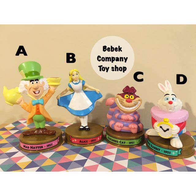 2002 美國二手玩具 Disney 100週年 McDonald's 麥當勞玩具 迪士尼 愛麗絲夢遊仙境 絕版玩具