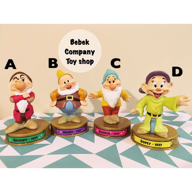2002 美國二手玩具 Disney 100週年 McDonald's 麥當勞玩具 迪士尼 白雪公主 小矮人 絕版玩具