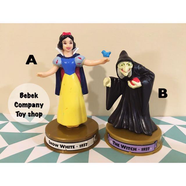 2002 美國二手玩具 Disney 100週年 McDonald's 麥當勞玩具 迪士尼 白雪公主 巫婆 絕版玩具
