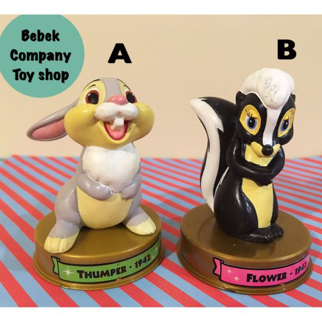 2002 美國二手玩具 Disney 100週年 McDonald's 麥當勞玩具 迪士尼 斑比 花兒 桑普 絕版玩具