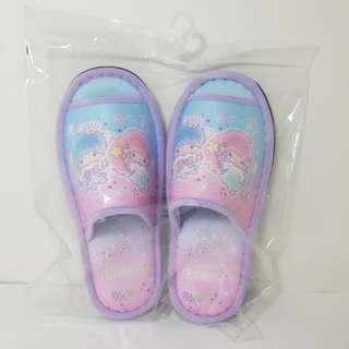 正版sanrio little twinstars 室內露趾拖鞋
