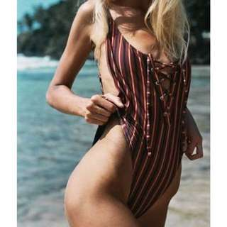 WANTED: Heartland & Baulch One Piece Farrah in Vintage Stripe