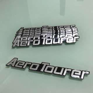 "(BRAND NEW) Car ""Aero Tourer"" logo sticker (Authentic)"