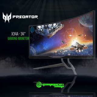 "Acer Predator X34A (34″ IPS""3440 x 1440/Built-in G-Sync)"