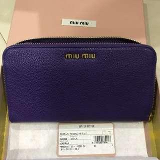 BNIB Miu Miu Madras Zip Around Viola wallet
